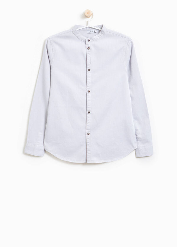 Cotton shirt with Mandarin collar | OVS
