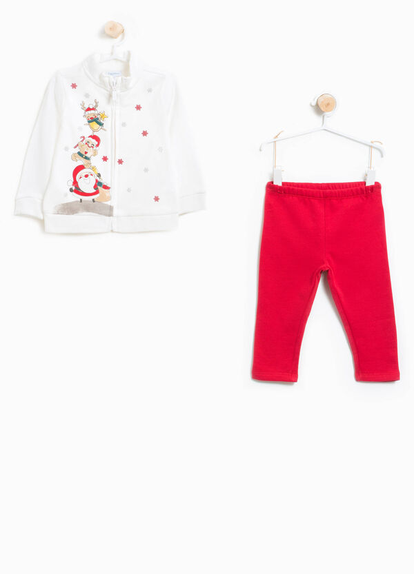 100% cotton tracksuit with Christmas print