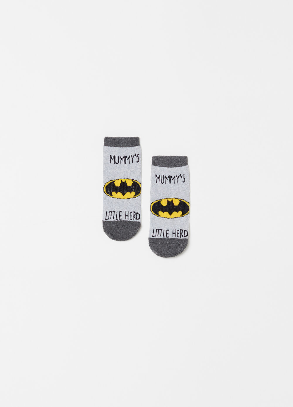 Short slipper socks with Batman embroidery