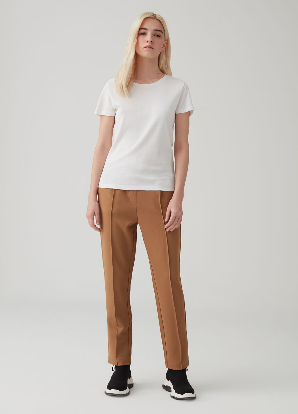 Comfort-fit trousers in fabric