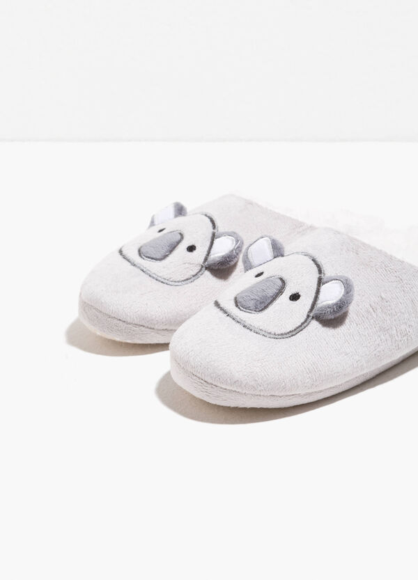 Canvas slippers with patch and ears | OVS