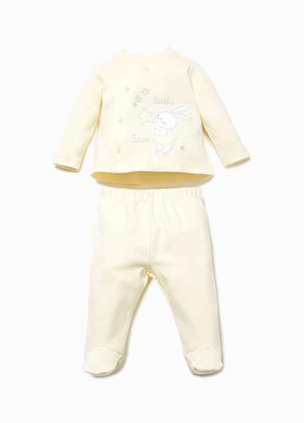 Cotton T-shirt and baby leggings set | OVS