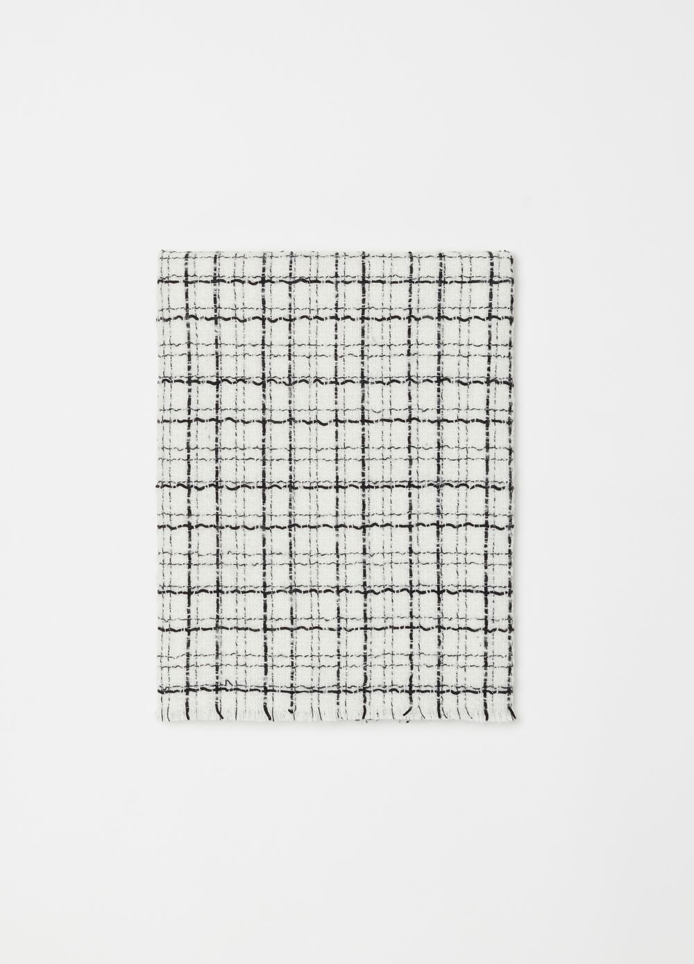 Pashmina in textured check fabric