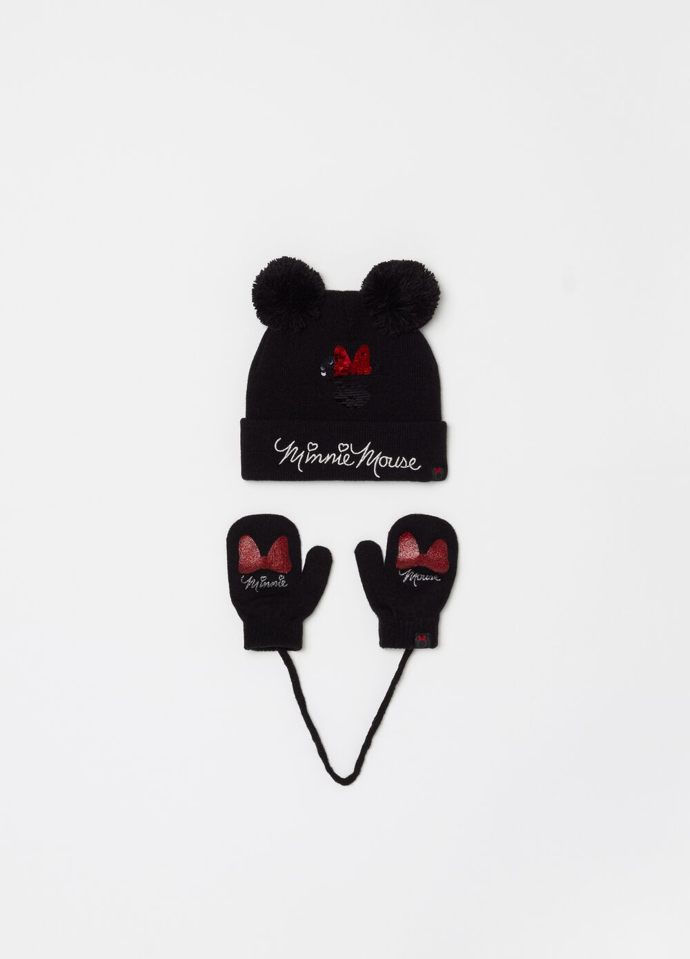 Disney Minnie Mouse hat and mittens set