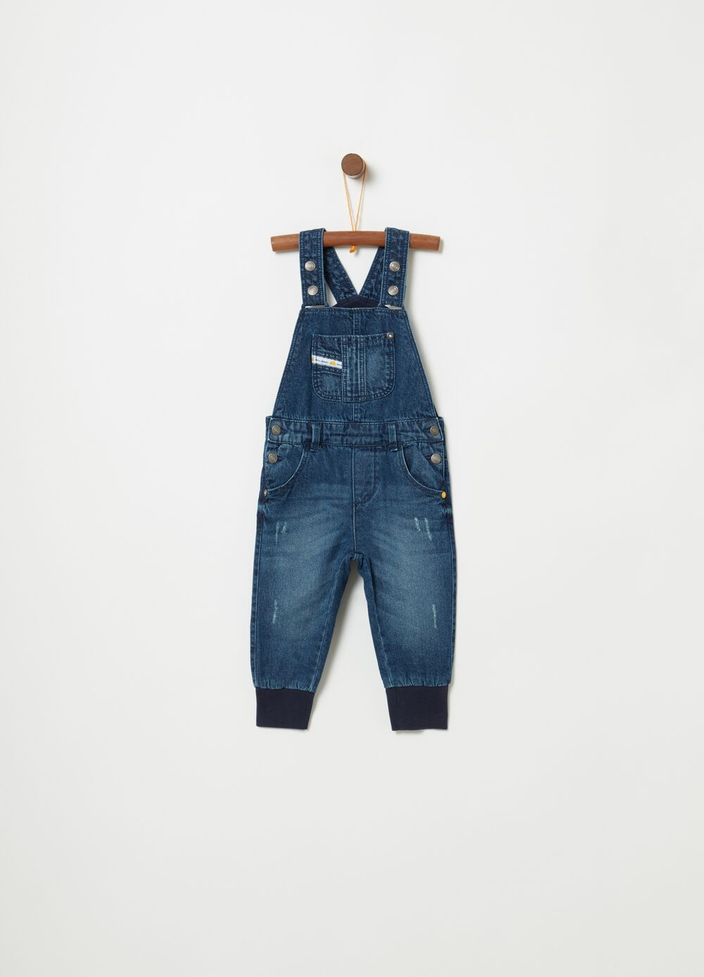 Dungarees in 100% cotton denim