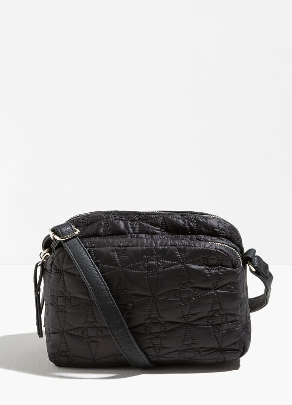 Shoulder bag with stitching and zip | OVS