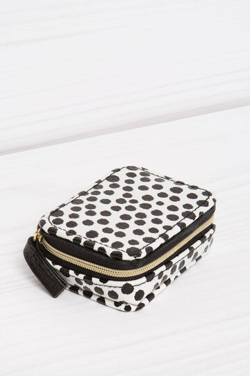 Eight-compartment pillbox with polka dot pattern