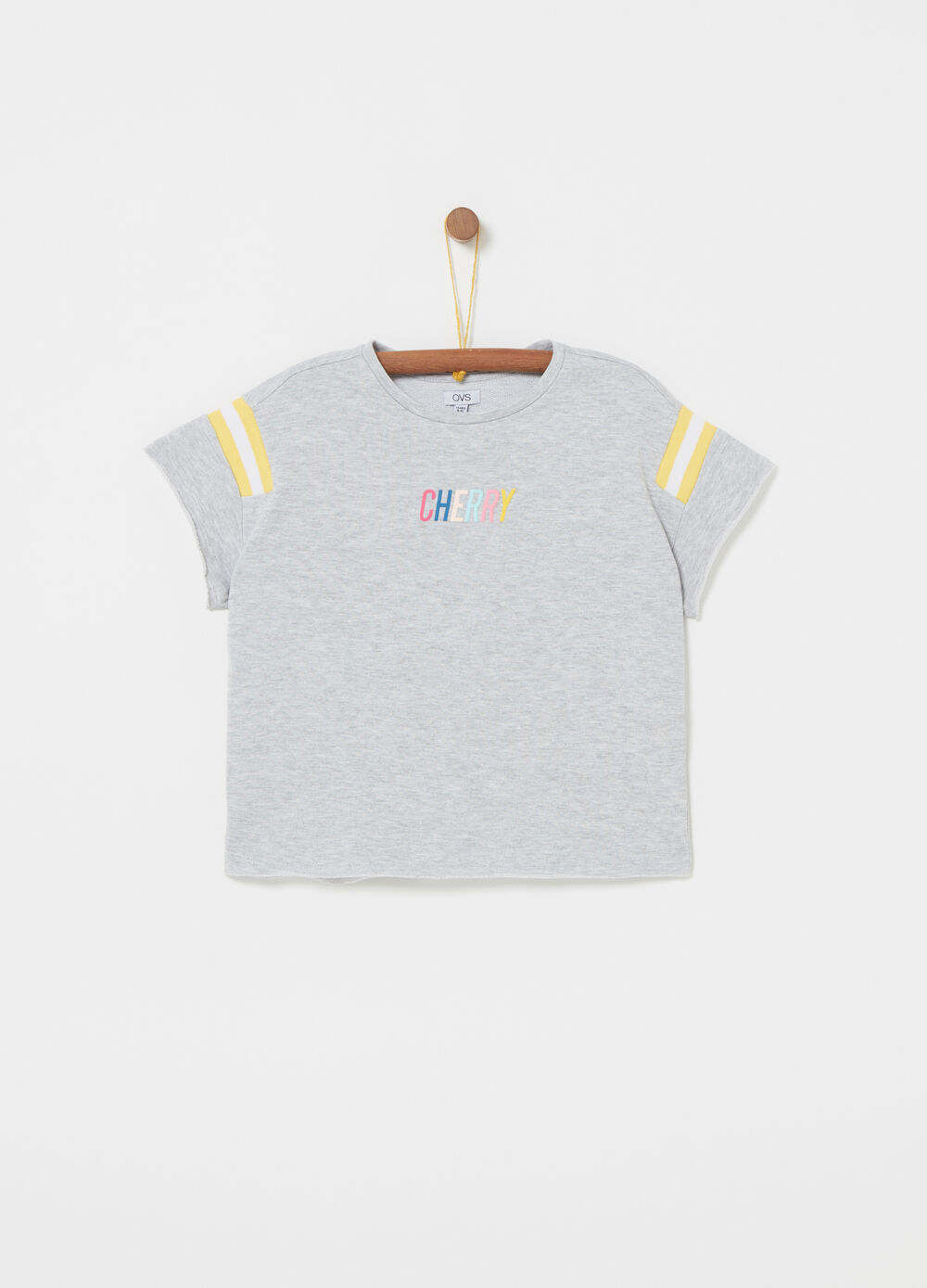 Mélange T-shirt in fleece with print