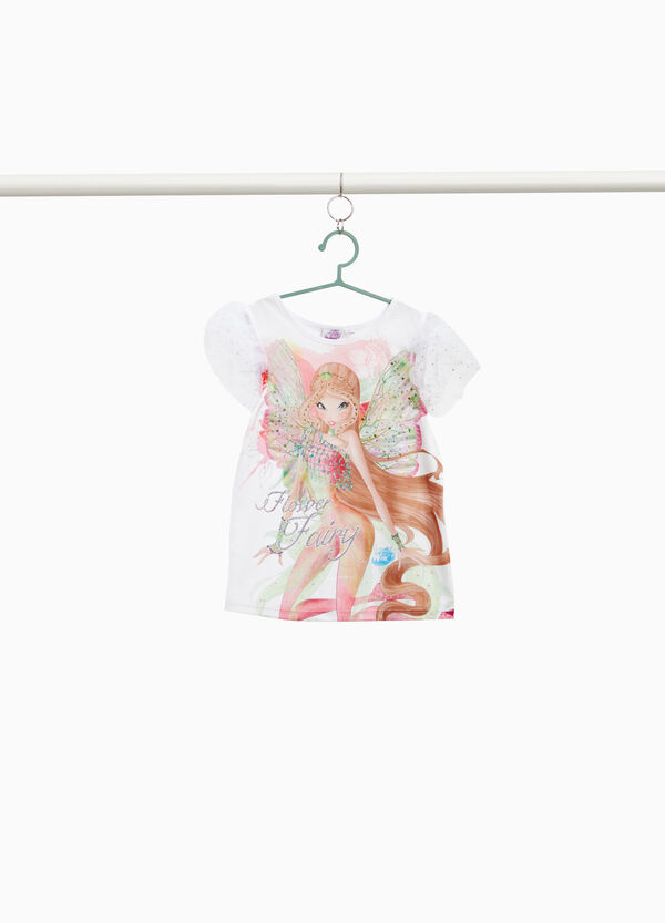 Stretch Winx top with tulle and diamantés