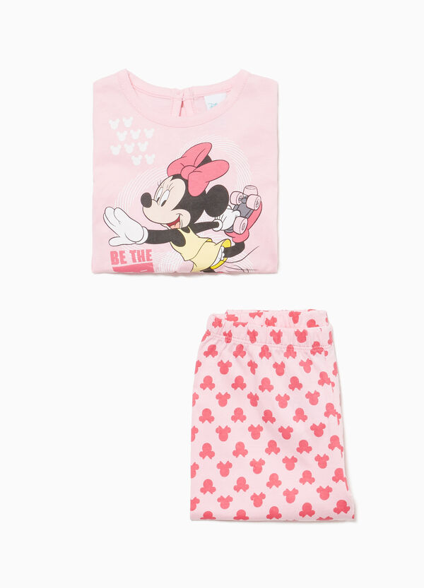 100% cotton Minnie Mouse pattern pyjamas