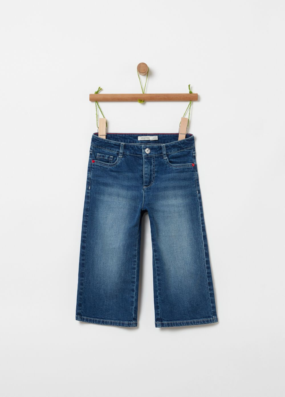 Cropped jeans with 5 pockets