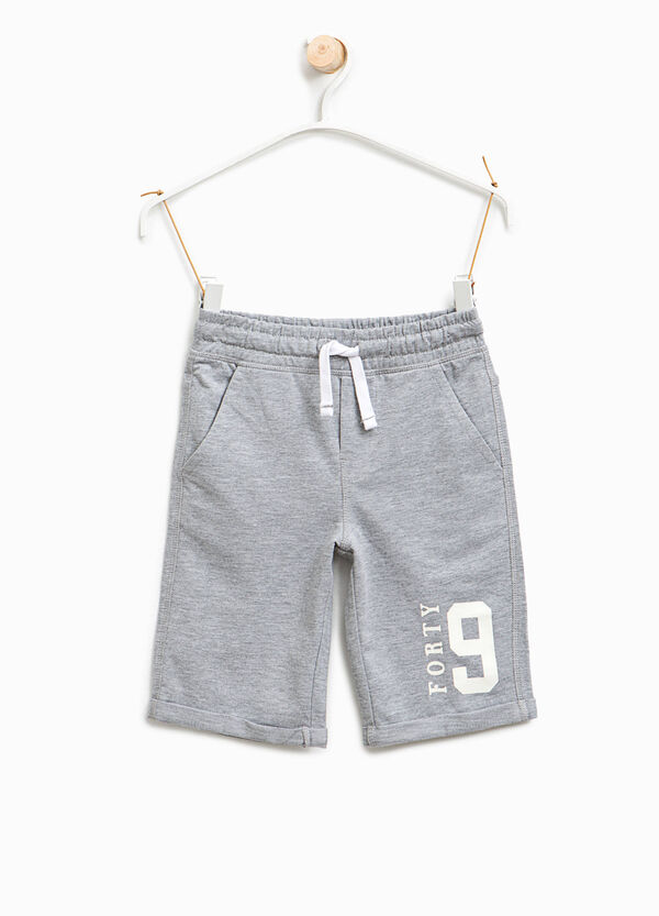 Bermuda shorts with printed lettering | OVS