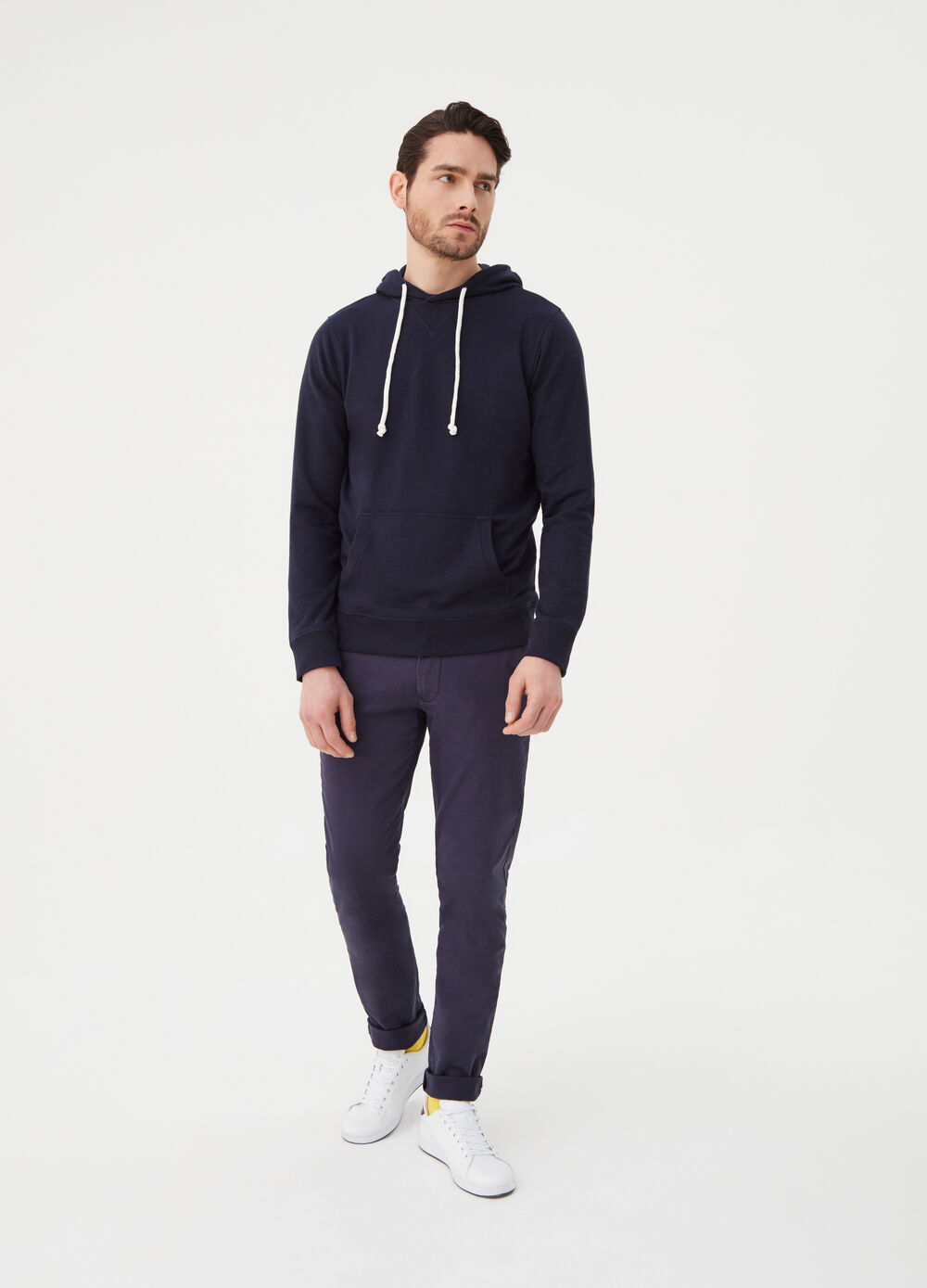 French terry sweatshirt with pouch pocket