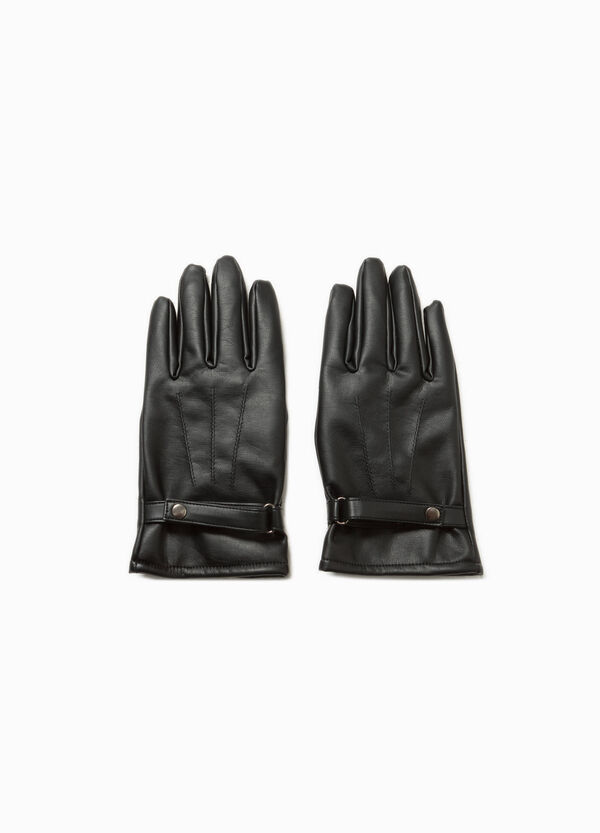 Viscose gloves with strap | OVS