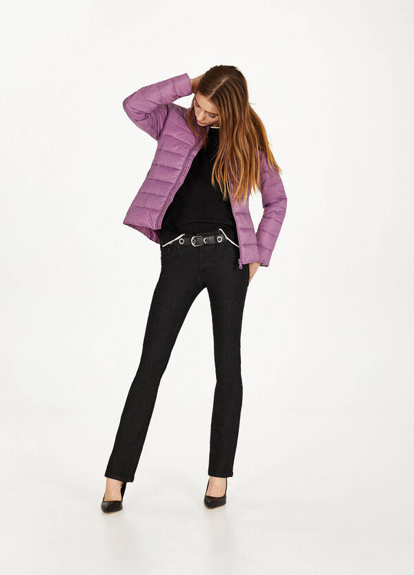 Ultralight jacket with high neck