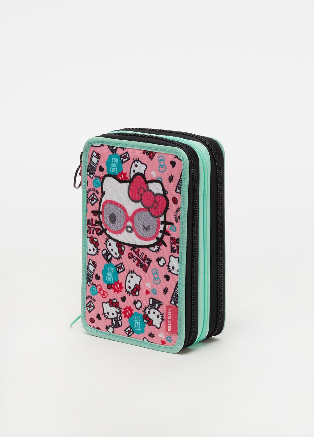 Hello Kitty pencil case with 3 zips