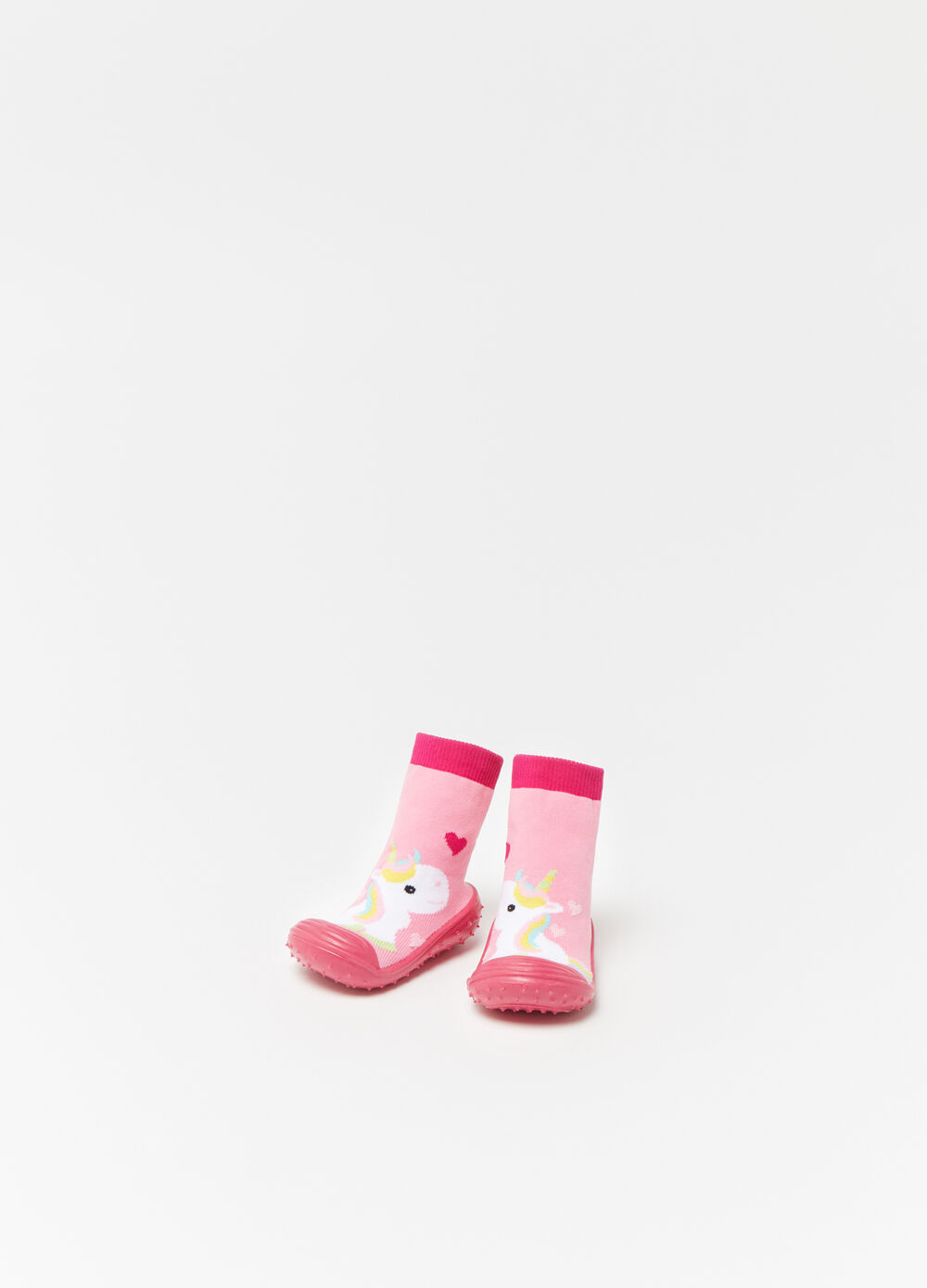 Baby shoes with high ankles and unicorn