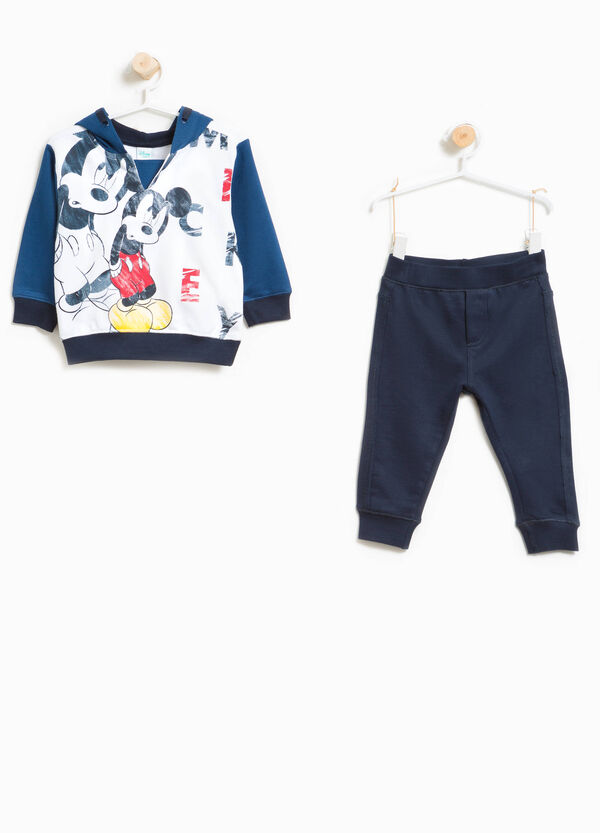 Mickey Mouse print tracksuit in 100% cotton