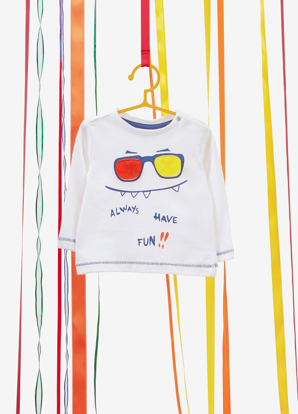 100% cotton T-shirt with smile print
