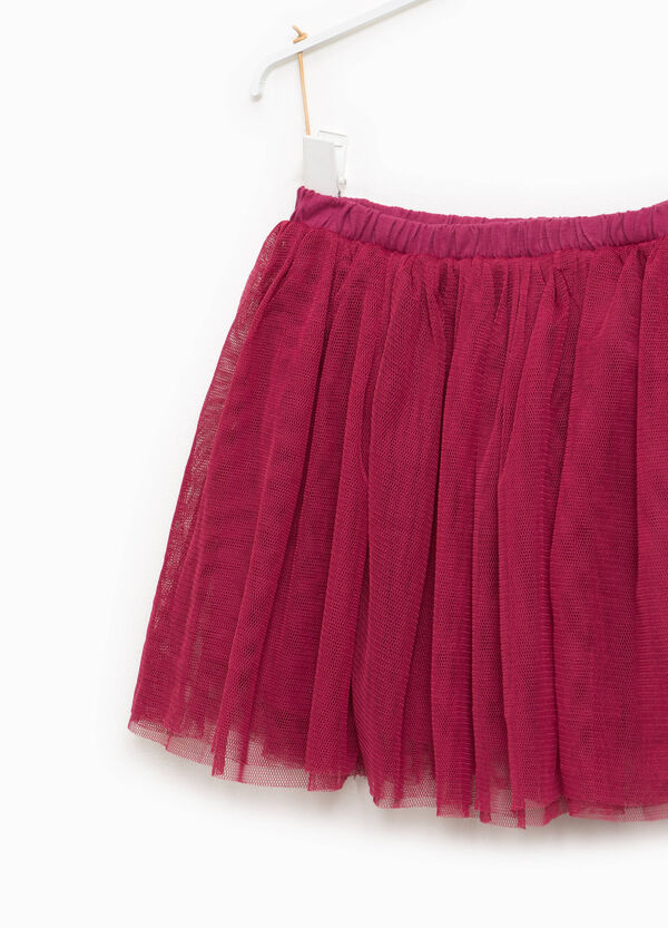 100% cotton tulle skirt with lining | OVS