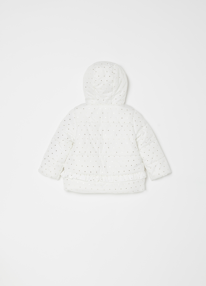 Padded and quilted jacket with micro dots image number null