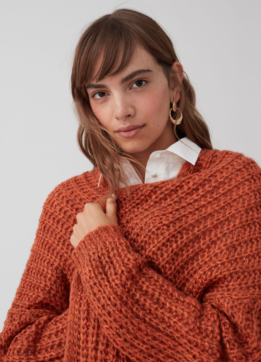 Knitted maxi cardigan with pockets