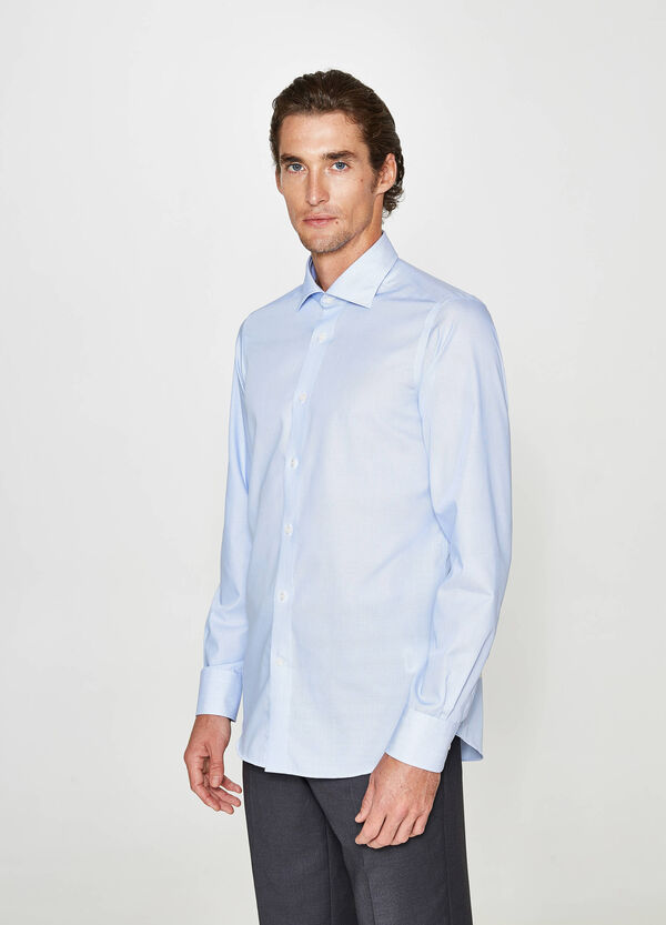 Camicia formale slim fit a micro righe