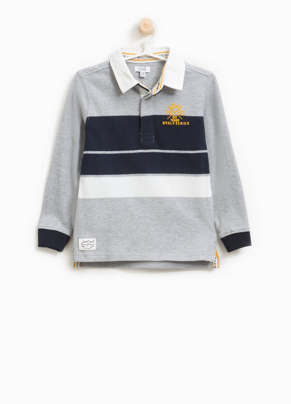 Polo shirt in 100% cotton with striped print | OVS