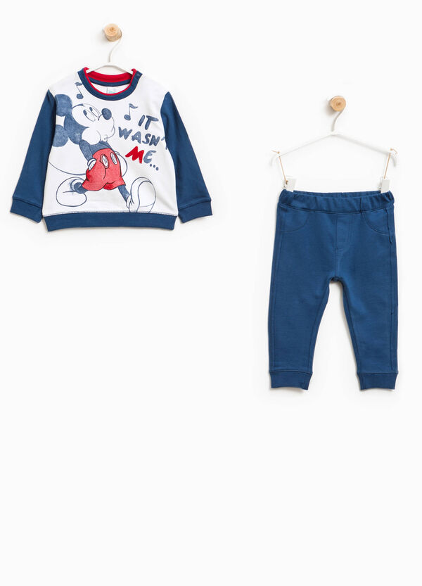 Mickey Mouse maxi print cotton tracksuit | OVS