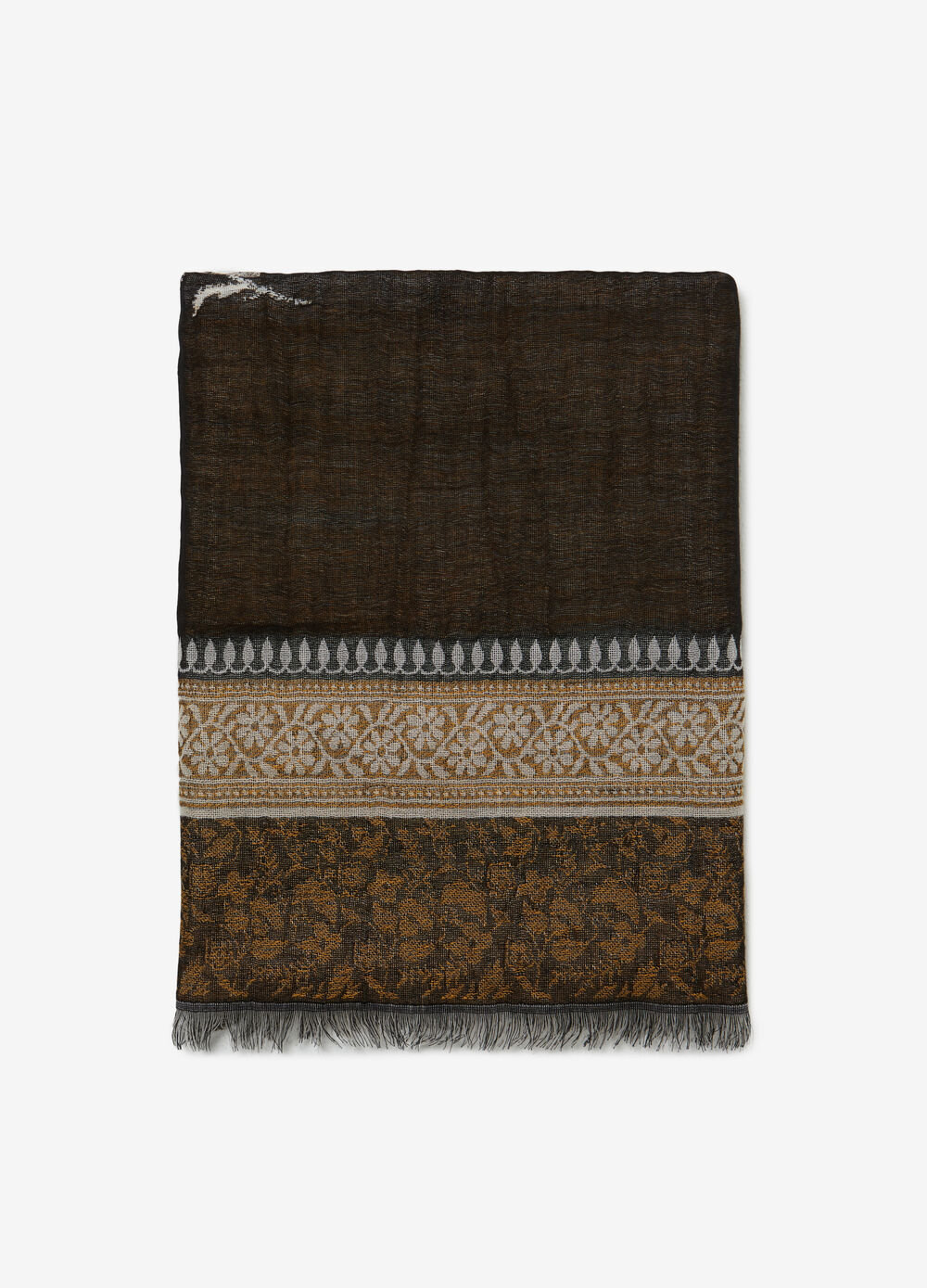 Jacquard scarf with flower design