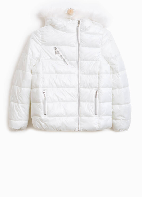 Jacket with high neck and large hood | OVS