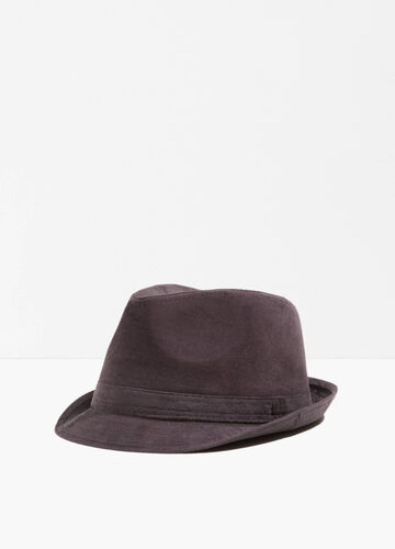 Cotton hat with wide brim