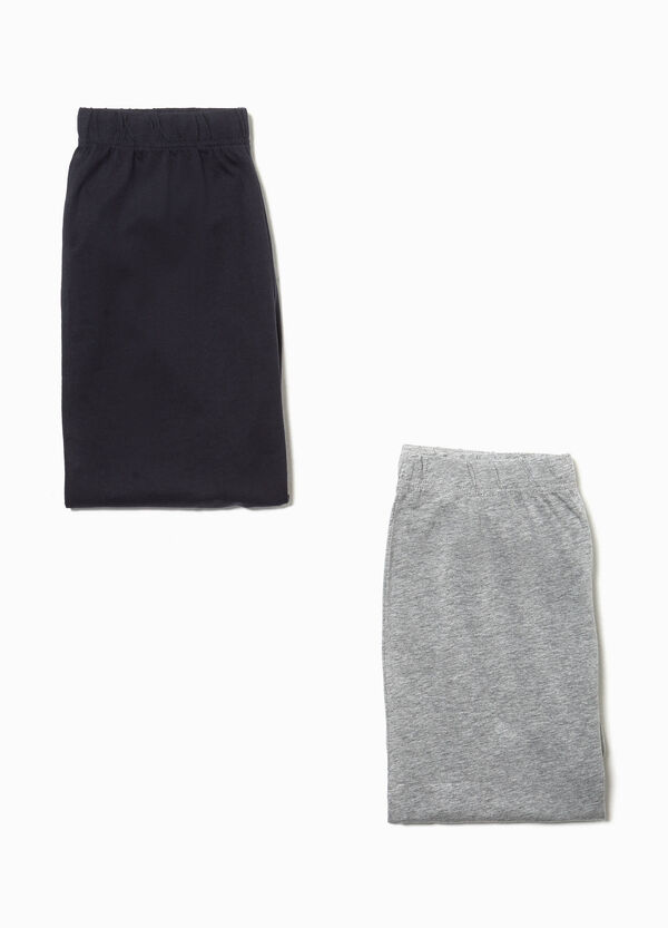 Two-pack solid colour pyjama trousers