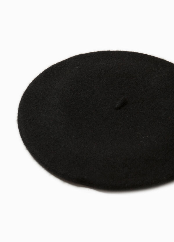 Solid colour wool beret | OVS
