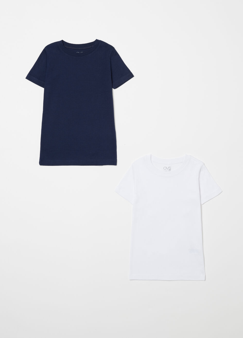 Two-pack solid colour T-shirt in 100% biocotton
