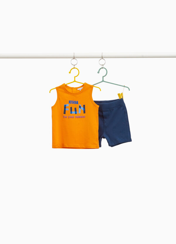 100% cotton outfit with lettering print