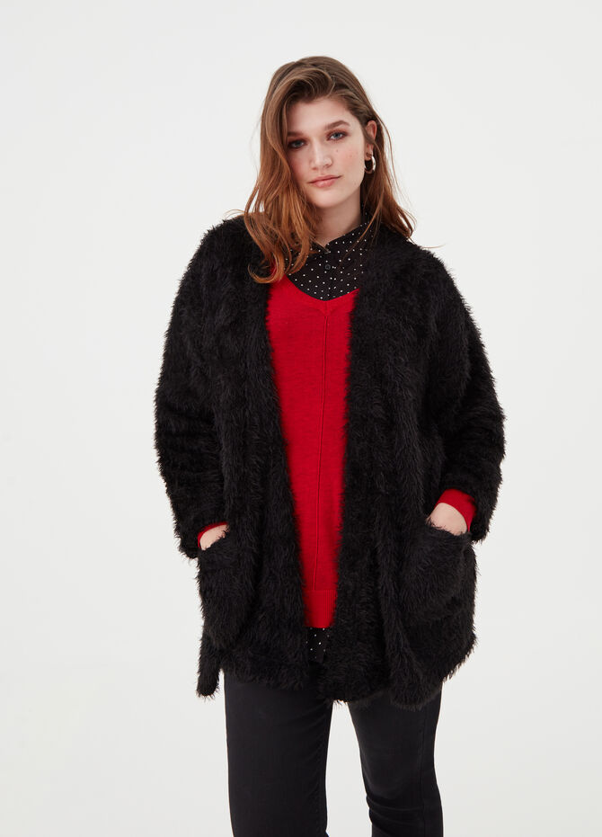 Faux fur effect Curvy jacket