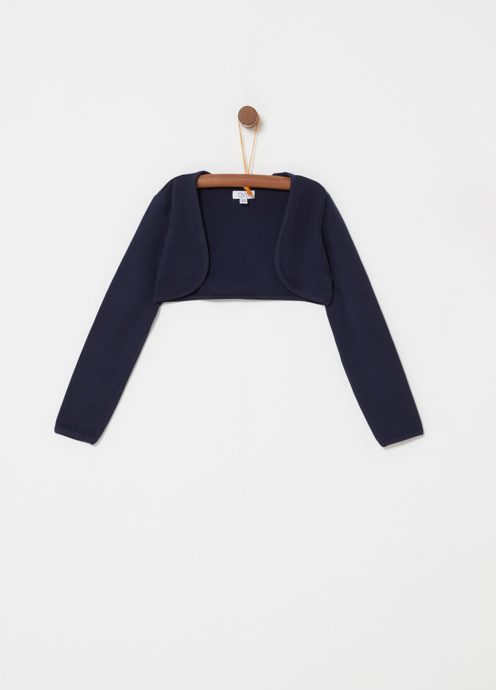 Stretch cotton jersey knit shrug