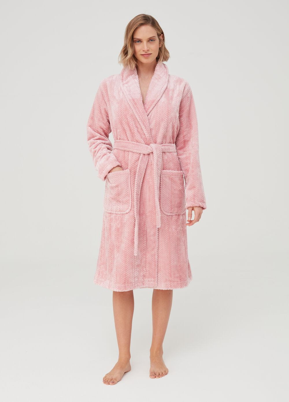 Dressing gown with belt