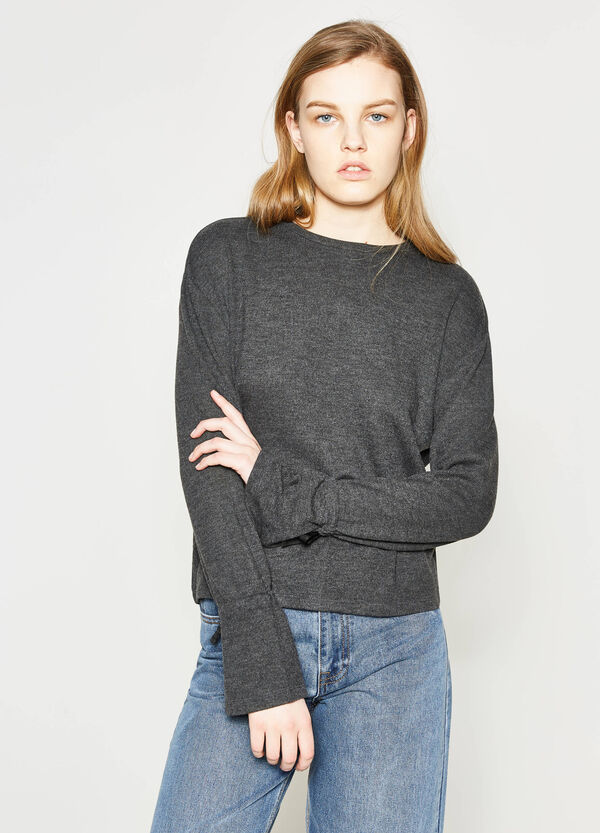 Pullover with laces on the cuffs | OVS