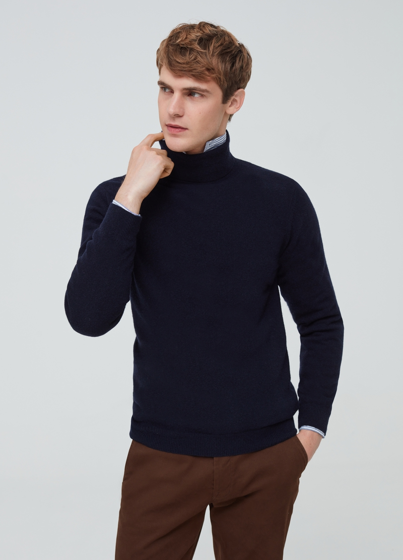 PIOMBO lambswool pullover with high neck image number null
