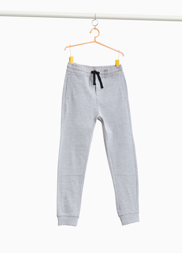 Cotton piquet joggers
