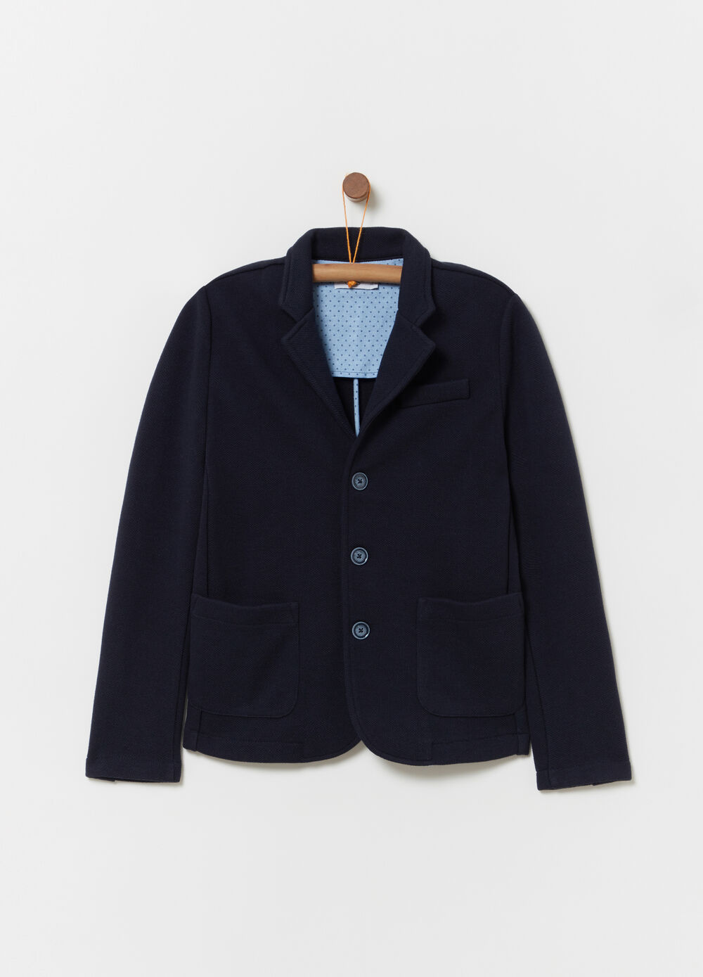 Slim-fit jacket with Oxford detail