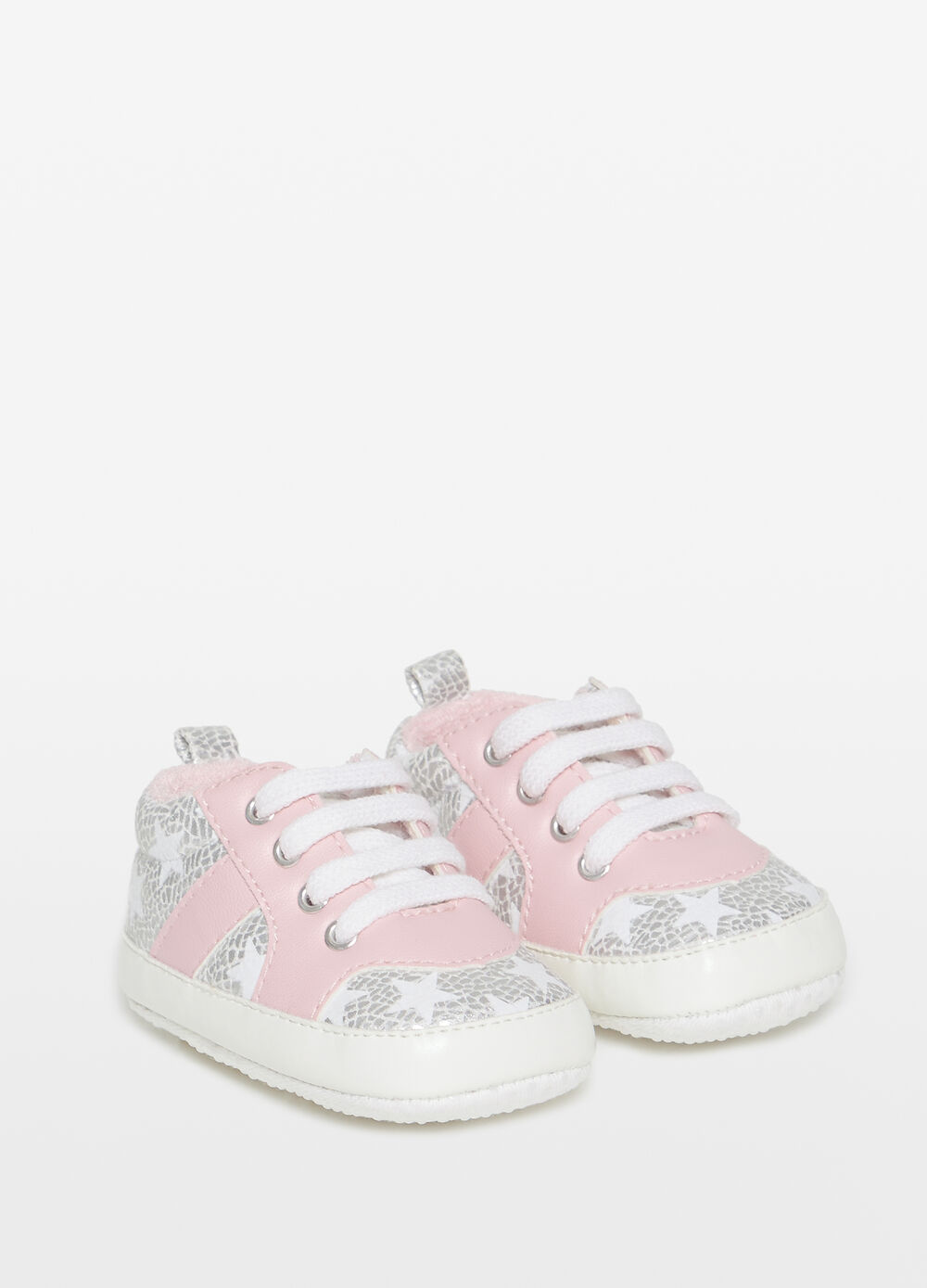 Glitter sneakers with star pattern