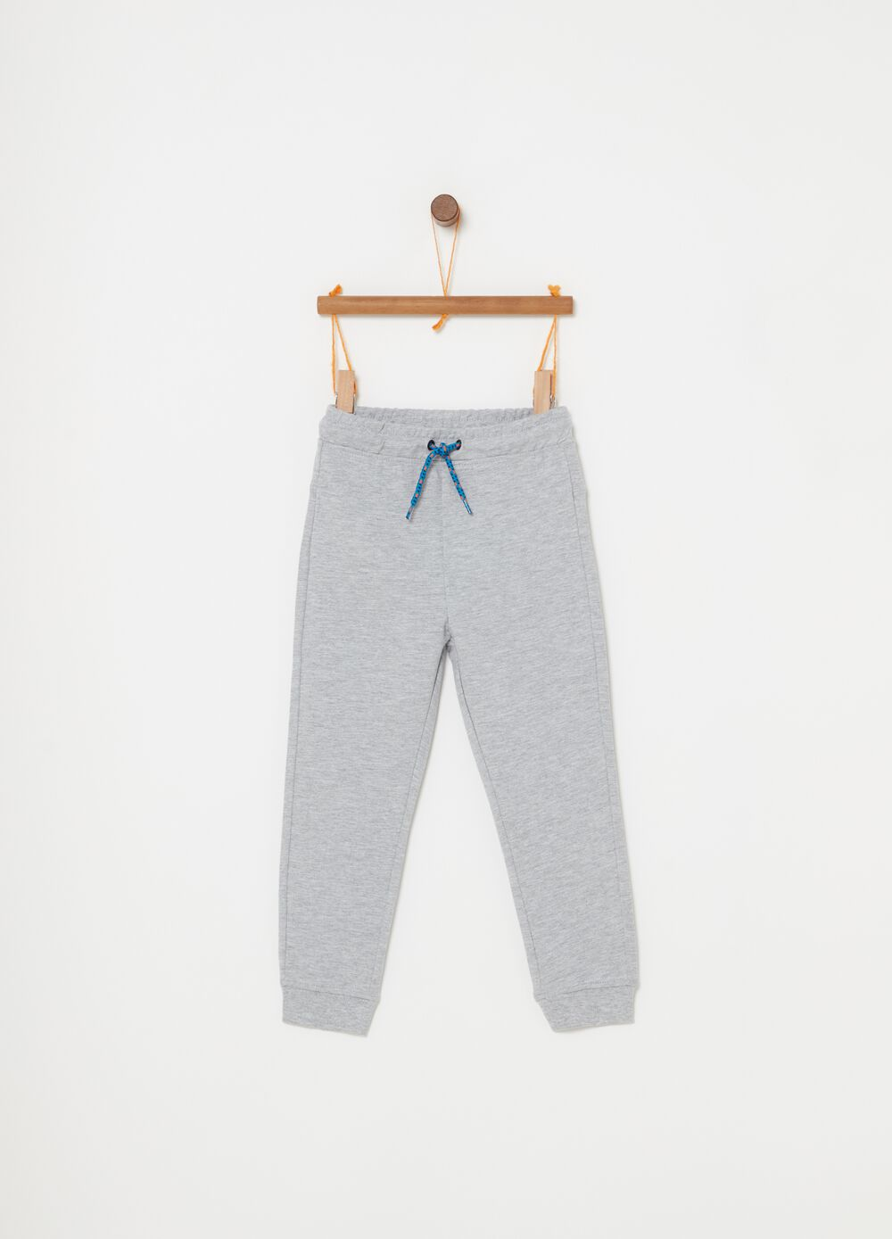 Terry towelling cotton mélange trousers