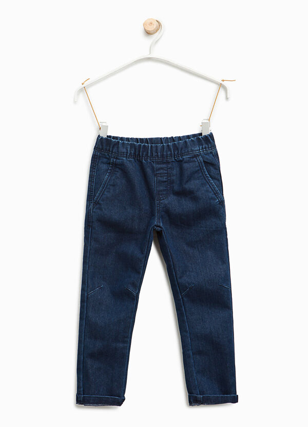 Jogger-fit jeans with turn-ups | OVS