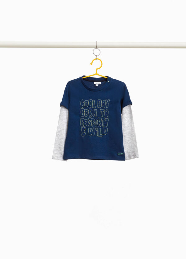 100% cotton T-shirt with embroidered lettering