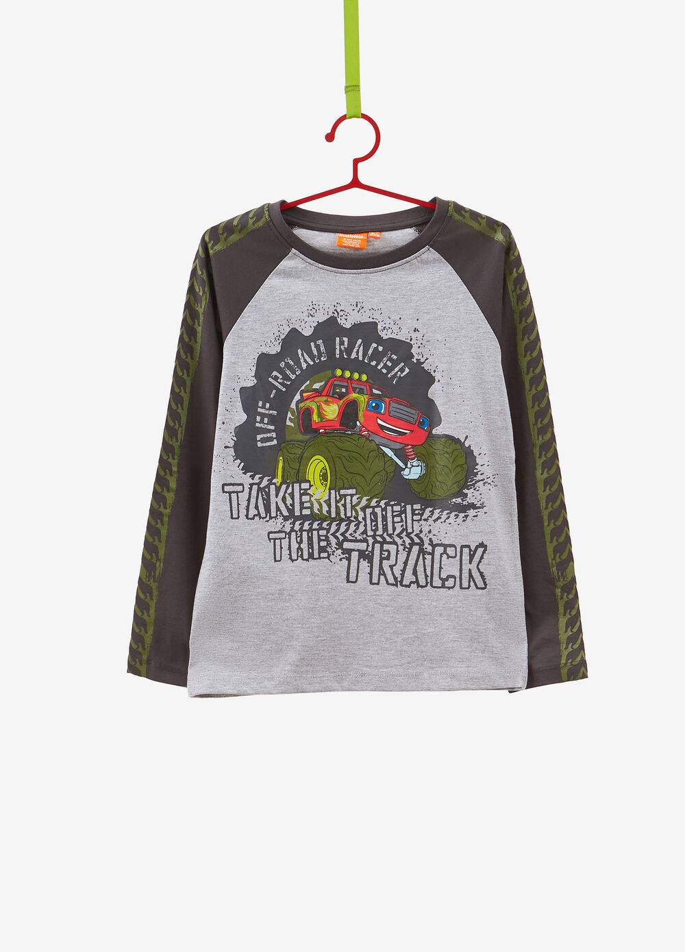 T-shirt with raglan sleeves and Cars print