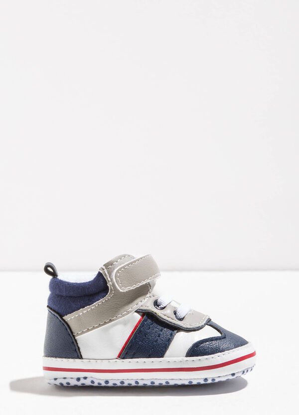 Sneakers with inserts and Velcro fastening | OVS