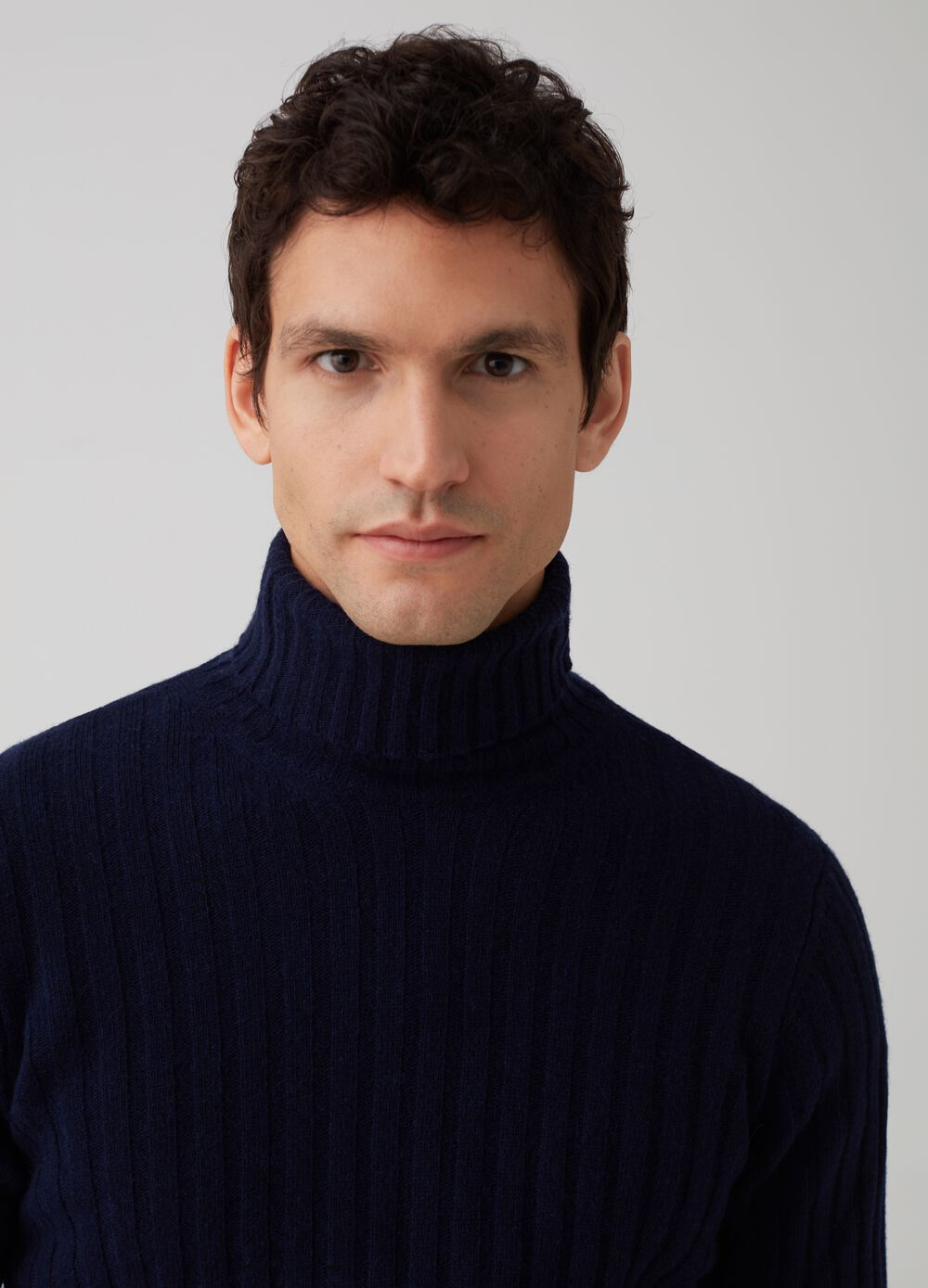 Rumford wool pullover with high neck